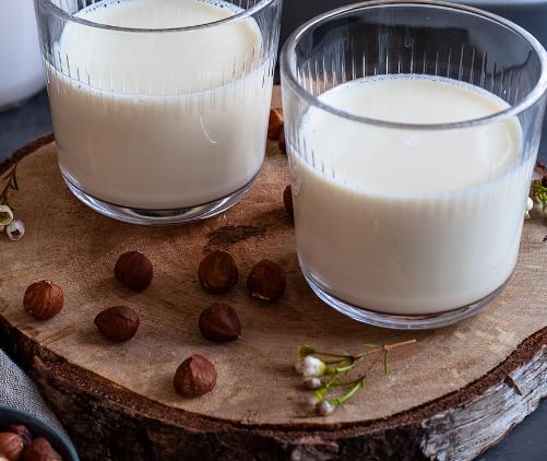 Haselnüsse zu Milch