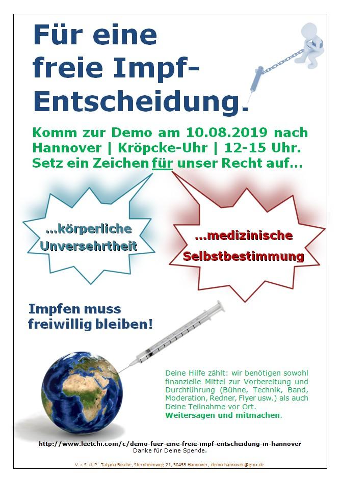 Freie Impfentscheidung Demo Hannover